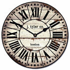 French Tower 2 LARGE WALL CLOCK 10- 48 Whisper Quiet Non-Ticking WOOD HANDMADE