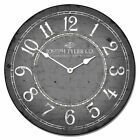 Gray & White LARGE WALL CLOCK 10- 48 Whisper Quiet Non-Ticking WOOD HANDMADE