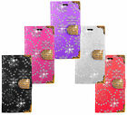Huawei Bling Diamond Leather Wallet Kickstand Bag Case Cover