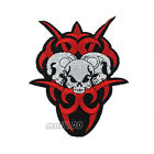 Fire Triple Skull Embroidered Sewing on Iron on Patch Badge Patches Applique