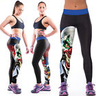 Cartone animato YOGA GYM Leggings Pantaloni Donna Sexy Stampa Fantasia Stretch