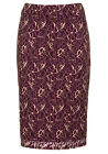 Lace Pencil Skirt Floral  22 Brown/Multi