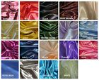 """BRIDAL SATIN FABRIC 58"""" WIDE BY THE YARD HOME DECOR & SPECIAL OCCASION"""