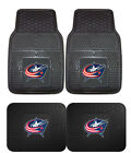 Columbus Blue Jackets Car Truck Mats 2-Piece or 4-Piece Heavy Duty Front Rear
