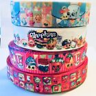 SHOPKINS Characters Grosgrain Ribbon for Hair Bows Cake Card 1m Metre