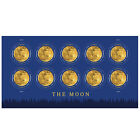 USPS New The Moon Global Forever International rate stamp pane of 10 фото