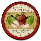 "Vintage Apple LARGE WALL CLOCK 10""- 48"" Whisper Quiet Non-Ticking WOOD HANDMADE"