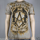 Affliction Trivial Rust  A10178 Mens T-shirt Tobacco Seam Wash