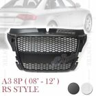 RS3 HONEYCOMB STYLE MESH FRONT GRILLE for AUDI A3 S3 8P 2008-2012 2 VERSIONS