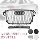 RS4 HONEYCOMB SPORT STYLE FRONT GRILLE for AUDI A4 C4 S4 B8 2012-ON 4 VERSIONS