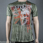 Affliction Wild In The Street A7935 Men's T-shirt Military Green Storm Wash