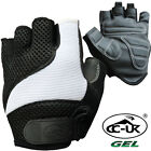CC-UK Half Finger Padded Gel Cycle Cycling Gloves - BLACK