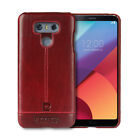 Pierre Cardin For LG G5 G6 Phone Case Genuine Leather Hard Back Case Cover Skin