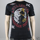 Affliction AC WILD A8156 Men's T-shirt Vintage Black