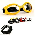 ADULT FOLDING SNOW GOGGLES w COMFORTABLE ADJUSTABLE STRAP - CHOOSE 10x COLOURS