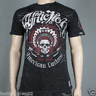 Affliction THUNDERCHIEF A7950 Men's T-shirt Tee Black Lava Wash