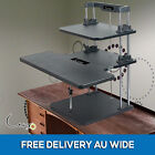 3 Tier Sit Stand Desk Adjustable Height Office Stand Up Ergonomic Computer Table
