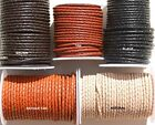 Genuine Bolo Braided Leather cord 3MM Thick  - Thong - Cord - Lace -