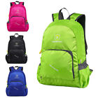 Foldable Backpack Camping Daypack Rucksack Shoulder Bag Hiking+Reflective Stripe