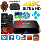 4K M8S KODI Android 4.4 Smart TV Box S812 Quad Core Fully Loaded + Keyboard 2+8G
