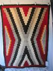 early 1900s Native American NAVAJO Indian Handwoven Wool Rug 39 x 56 Authentic