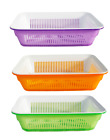 4.5L Plastic Strainer Vegetables Fruit Fish Sieve Kitchen Colander Drip Tray