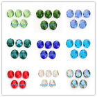10Pcs Glass Crystal Flat Oval Loose Beads Craft Jewelry Making 20x16mm Charms