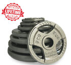 """Tri Grip Cast Iron Olympic Weight Plates Barbell Plate 2"""" Dumbbell Weights Disc"""