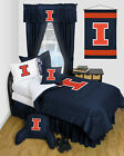 Illinois Illini Comforter & Sham Set Twin Full Queen Size LR