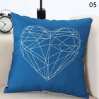 18'' Antlers Geometric Cotton Linen Throw Pillow Case Cushion Cover Home Decor