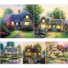 DIY Full Drill Home To Cottage Diamond Wall Stickers Painting Home Decor 30*30cm