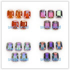 14X10mm Rectangle Square Faceted Crystal DIY Jewerly Glass Loose Charms Beads