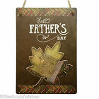 Fathers Day Gifts Plaque sign for her vintage chic present Best Dad Leaf