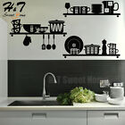 Kitchen Art Removable Vinyl Wall Sticker Decal Mural Cafe Di