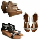 NEW WOMENS SUMMER OPEN TOE DIAMANTE STRAPPY SANDALS GLADIATOR FLAT SUMMER SHOES