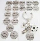 Football mad KEYRING,Wedding thank you,Birthday gift, Christmas,Dad,Grandad,Son