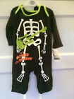 Childs Babies Boys Halloween Skeleton Costume Fancy Dress Glo In The Dark