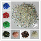 3mm Resin Rhinestone Round Flatback 14Facets SS12 Nail Art DIY AB Colors