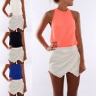 New Women's Summer Casual Sleeveless Chiffon Tee Vest T Shirt Blouse Loose Tops