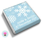 Personalised SNOWFLAKE Winter Wonderland Christmas Wedding Favour Chocolates
