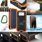 Waterproof 500000mAh Carry-on Solar Charger Dual USB Battery Power Bank F Phone