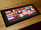 Euro 2016 football flag Bar pub runner counter mat  fathers day gift