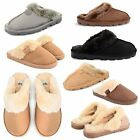 NEW LADIES WINTER SLIPPERS WOMENS SLIP ON MULES INDOOR HOUSE SHOES UK SIZES