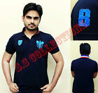 Mens Polo Shirt Short Sleeve Top Designer Style Fit T-Shirt UK Sizes M,L,XL