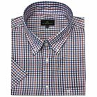 Cotton Valley Cotton Rich White/Red/Navy Check Shirt (14292) in Size 2XL to 8XL