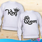 "Coppia di Felpe Love You and Me Idea Regalo San Valentino ""King Queen Corona"""