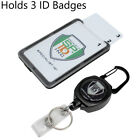 Specialist ID Heavy Duty Retractable Badge Reel with THREE Card Holder  Keyring