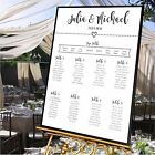 Personalised Wedding Table Seating Plan- HEART TABLE PLAN - 4 SIZES- ANY COLOUR