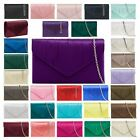 WOMENS LADIES NEW SILVER CHAIN PLEATED SATIN STYLISH SMALL CLUTCH BAG HANDBAG