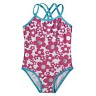 Circo Pink Swimsuit Pink White Silver FLORAL Double Strap Swim Suit Bathing Blue